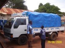 John Mugabi by the lorry
