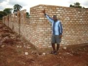 John Mugabi by the dining hall