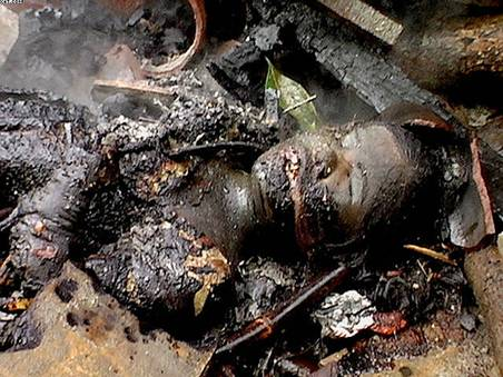 Christian burned to death