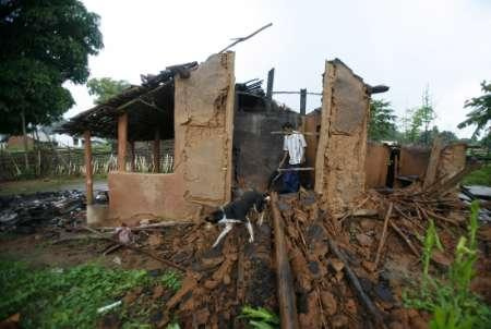 Those whose home have been destroyed have been forced to flee.