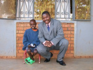 John Mugabi with 19-yr old Alex Kaggwa- early 2008