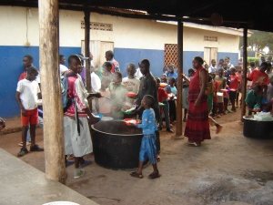 The food program in Nkumba--in action!
