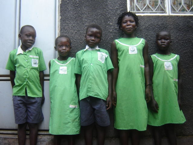 Charles' orphaned nieces and nephews--living in their new place, all shined up for school