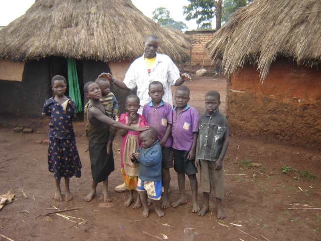 Charles with his nieces & nephews prior to sponsorship