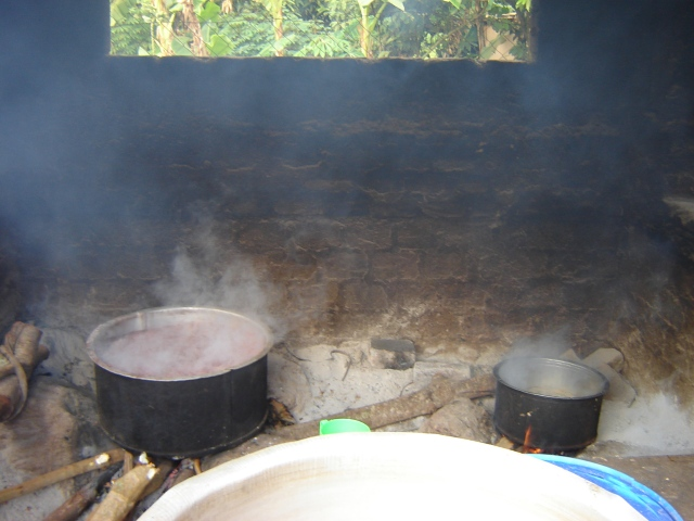 The current Nkumba kitchen