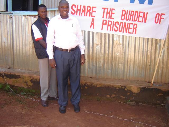Pastor Robert (ex-prisoner) with Pastor John Mugabi