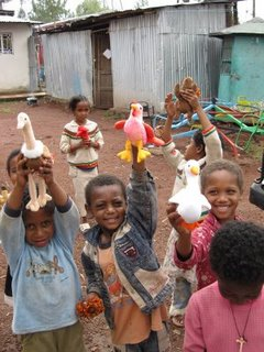 Due to security issues, a photo of the Thiele's children is not allowed to be released.  This is a photo of other Ethiopian children.