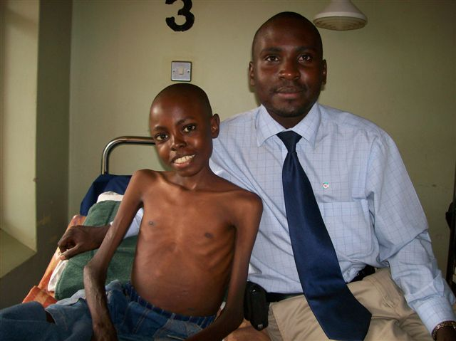 Alex Kaggwa with Seggy.  Kaggwa went to be with Jesus April 3, 2008