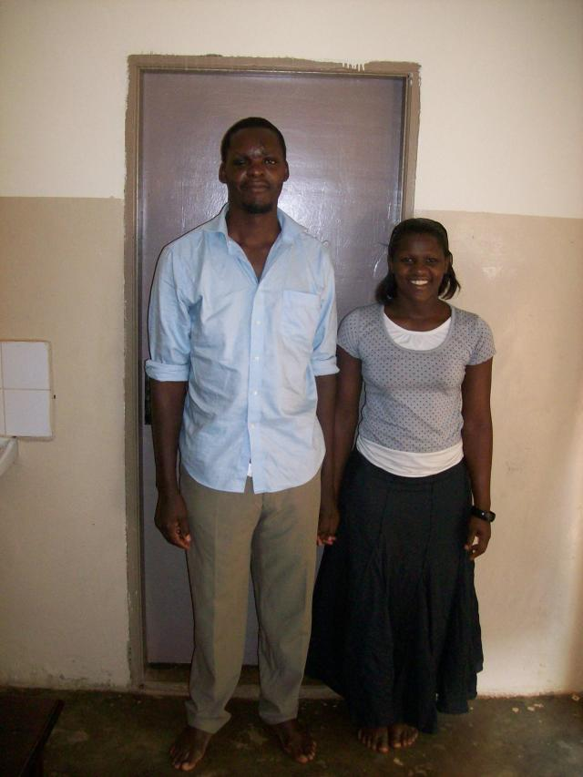 Fred with his wife--In the last month, Fred was sponsored to attend seminary!