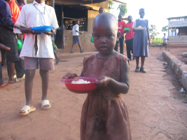 Just received dinner-Nkumba food program
